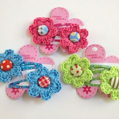 Crocheting Accessories : Crochet Hair Accessories on Pinterest Crochet Hair Clips, Hair Clips ...