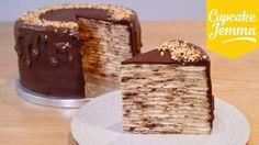 How to Make an EPIC Nutella Crepe Pancake Cake!   Cupcake Jemma