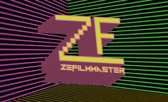 "The final redering of the logo for the youtube channel ""ZeFilmmaster"". This took a lottle time because it had been a very long time since I had used Illistrator to created this kind if word and line art.  In the 80s the young culture was all about Mtv and the music. When you think Mtv in the 80s a few things come to mind.  #1: there was actual music on the channel. #2: the hair. And #3: is the character Max Headroom! With all the digitzed studdering and the 3d rendered neon cube background."