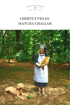 Vegan Matcha Challah Recipe.. This eye-catching version of our Jewish classic bread is stunningly bright green! Spread with tahini and a sprinkle of natural palm sugar or drizzle of maple syrup for a sweet breakfast or snack. Or slice and serve with any nut butter for a delicious accompaniment to a hot cup of fruity tea. Or bake and enjoy as it on Shabbat or any other Jewish holiday. #challahrecipe #challahbread #challahbake #challahbaking #challahbraiding Palm Sugar, Challah, Sweet Breakfast, Nut Butter, Tahini, Bright Green, Maple Syrup, Matcha, Bread