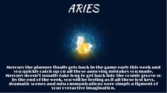 For Zodiac Sign #Aries this is what's in store for you this week!