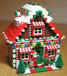 LEGO Custom Gingerbread House Christmas Train Holiday Train City Town Santa Elf it is almost for Christmas Lego Duplo, Minifigures Lego, Lego Winter, Christmas Train, Noel Christmas, Christmas Crafts, Holiday Train, Lego Christmas Village, Christmas Houses