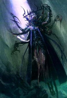 Dark Eldar Haemonculi. They are master torturers, the Dark Eldar's greatest connoisseurs of pain and terror.