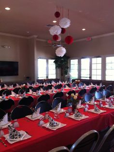 Bridal Shower Red White Black Decorations 2013
