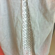 Lace panel on back of dress shirt. Must figure out how to do this with @jeanettadarely