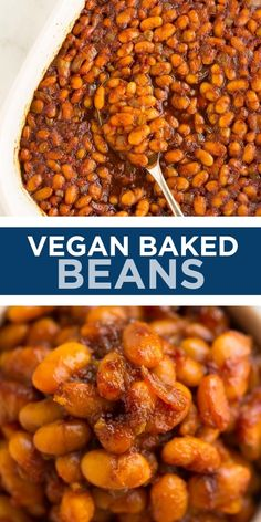 Introducing the most delicious vegan baked beans in the world! The secret to quick and easy baked beans? Canned beans, of course! Sure to be a hit at any barbecue. Canned Baked Beans, Easy Baked Beans, Bean Recipes, Delicious Vegan Recipes, Vegetarian Recipes, Whole Food Diet, Whole Food Recipes, Cooking Recipes, Vegan Lunches