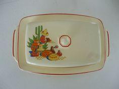 Vintage Fiesta Homer Laughlin Mexican Motif Max-I-Cana Butter Dish