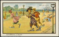 Getting their skates on: This image, entitled Auto-Patins a Roues, is a vision of futurist...