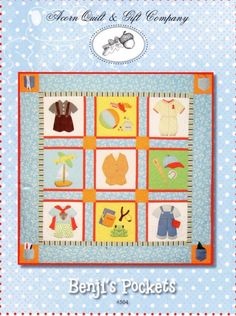Benji's Pockets Quilt pattern on Etsy from Piper's Quilts - so, so adorable!