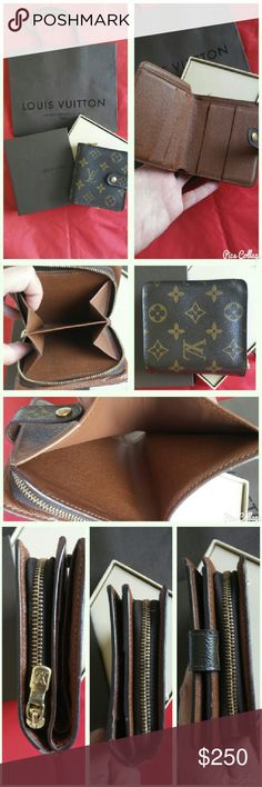 Authentic LOUIS VUITTON Compact Zip Bifold Wallet Authentic Excellent condition  Bag and box included Louis Vuitton Bags Wallets