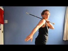 Baton Twirling Tutorial: How To Do Neck Rolls - YouTube
