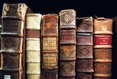 book spines.  Love, love, love old books!