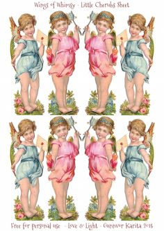 Wings of Whimsy: Little Cherubs Collage Sheet