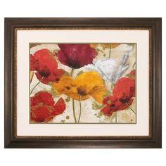 Propac Images Happy Flowers Framed Painting Print