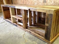Pallet entertainment center. Set your TV up in this piece of awesomeness