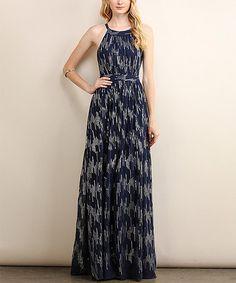 Love this Navy Sequin Maxi Dress on #zulily! #zulilyfinds
