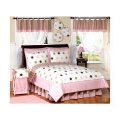 Mod Dots Bedding Set - Pink--Delancey