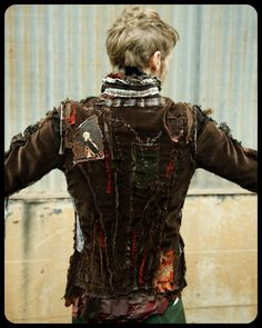 ..gibbous:shop.. - upcycled patched jacket