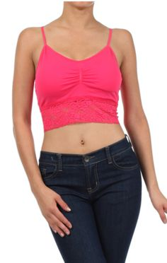 9863ce3f57 DK Monarchy Crop Top w  Padded Bra with Adjustable Strap and Optional  Padding - more colors available!