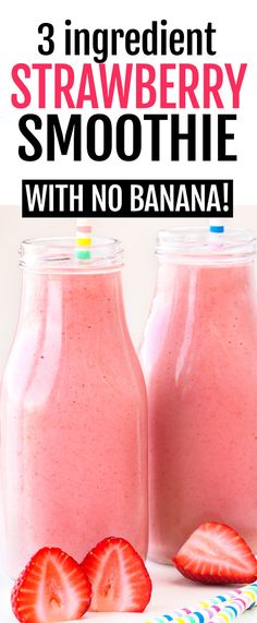Fruit Smoothie Recipes, Easy Smoothies, Breakfast Smoothies, Healthy Strawberry Recipes, Frozen Strawberry Smoothie, Strawberry Protein Shakes, Chocolate Strawberry Smoothie, Smoothies With Almond Milk, Smoothies With Strawberries