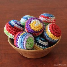 Crocheted Juggling Balls - Simply Notable