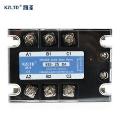 Check Discount KZLTD 3 Phase Solid State Relay SSR 25A SSR-25 DC to AC Solid State Relay 25 SSR Relay Three Phase SSR 25A High Quality Rele #KZLTD #Phase #Solid #State #Relay #SSR-25 #Three #High #Quality #Rele