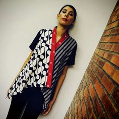 Unusual batik blouse
