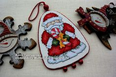 Embroidery ...  The holiday, which is always with me...: Игрушка на елку «Santas Gifts» / Design Works Craf...