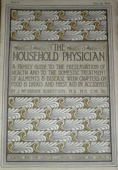 Talwin Morris paper cover for monthly subscription edition of The Household Physician c  1896
