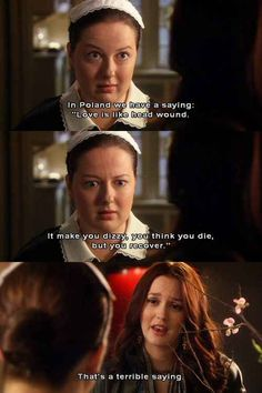 Another Good Thing About This Show Was... DOROTA! <3 Wish I had a maid like her #GossipGirl #Xoxo #GG #Dorota