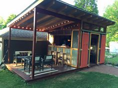Shed plus dining platform idea