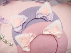 "Cat ear bowknot beret hat ♥ discount code ""demecchi"" to get 5% off"