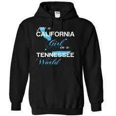 (CAJustXanh001) Just A California Girl In A Tennessee World #Tshirt #style