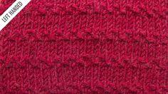 The Roman Stitch :: Knitting Stitch #525 :: Left Handed