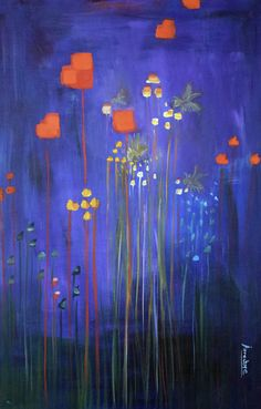 """Where ART Lives Gallery Artists Group Blog: Abstract Environmental Fine Art Painting """"Bees Kne..."""