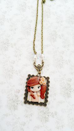 steampunk dolly necklace by lapetitedeco on Etsy