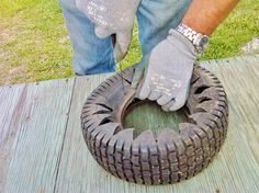 Create a flower planter from an old tire! Hometalk.  ------------------------------  Great for Flowers, easy edging this way.We plan to do this at our next place-TD.