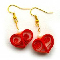 Red Heart Beat Simple and weightless luxuries style. Change your luxuries style everyday in low cost. Weight like as air based quilling paper. Try once, you will collect all things. Give your dream jewel design, we will give structure to that. (Make jewels against your order)   Buy fashion earrings at low price in Ohooshopping.com http://www.ramanamam.com/ohooshopping/index.php?route=product/product&path=88&product_id=42