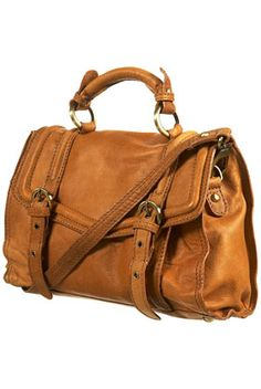 this chic leather satchel will set you back $60.00 - tempting.