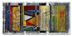 """AllMyWalls PALM00015 Ruth Palmer Abstract Metal Wall Art by AllMyWalls. $787.00. Transform your home's decor with this """"Abstract"""" metal wall sculpture by Ruth Palmer. These metal wall hangings consist of torch-cut 18-gauge steel layers, stud construction, and one-of-a-kind hand-sanding, which creates a three dimensional visual effect that is comparable to a hologram. With over 500 paintings to choose from, there is something for every taste and every room in your home. Start you..."""