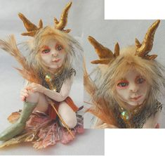 Lucian Woodland Elf w/ Antlers OOAK Fairy Fairies Art Doll Figurine NEW Fantasy #Handmade
