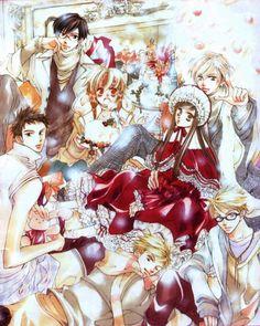 Ouran High School Host Club,by Bisco Hatori Ouran Highschool Host Club, Ouran Host Club, High School Host Club, High Shool, Host Club Anime, Tamaki, Fanart, Me Anime, Manga Covers