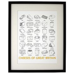 'Cheeses Of Great Britain' Print