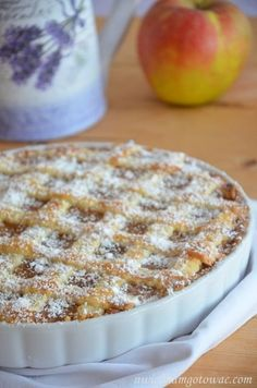 Tarta z jabłkami Pear Recipes, Apple Cake Recipes, Dessert Recipes, Lemon Cheesecake Recipes, Chocolate Cheesecake Recipes, Holiday Baking, Quiche, Delicious Desserts, Food And Drink