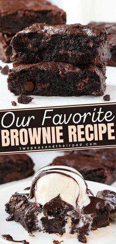 Say hello to the classic Brownie recipe! These sweet treats are extra rich and chocolaty; and the shiny, crackly top makes them pretty to serve and fun to bite into. Best of all, this is an easy dessert recipe that only needs a few ingredients to make. Add this to your holiday baking list!