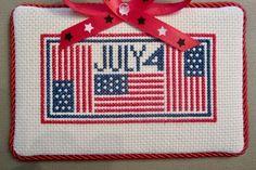 Flag cross stitch.