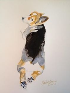 "Watercolor ""Corgi"""