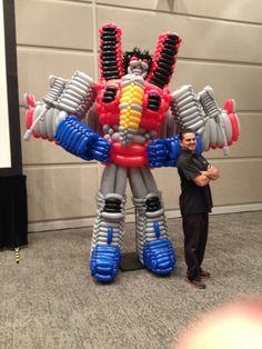 12 ft Transformers balloon sculpture by Ballusionist Brian Potvin