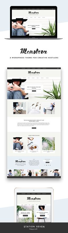 Monstera - A Theme for Creatives by Station Seven on @creativemarket