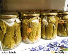 Raw Food Recipes, Pickles, Cucumber, Mason Jars, Food Ideas, Anna, Pickle, Canning Jars, Pickling